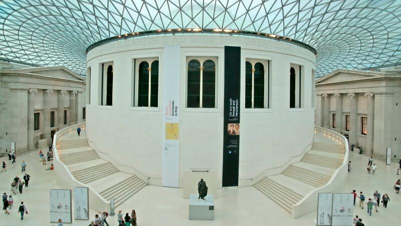 Британский музей - главный холл
