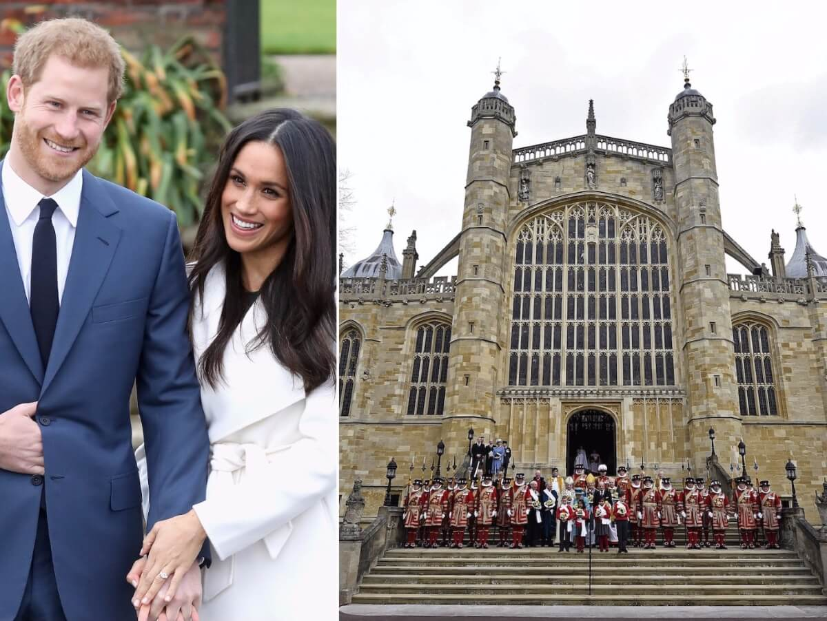 Принц Гарри и его невеста в замке Виндзора