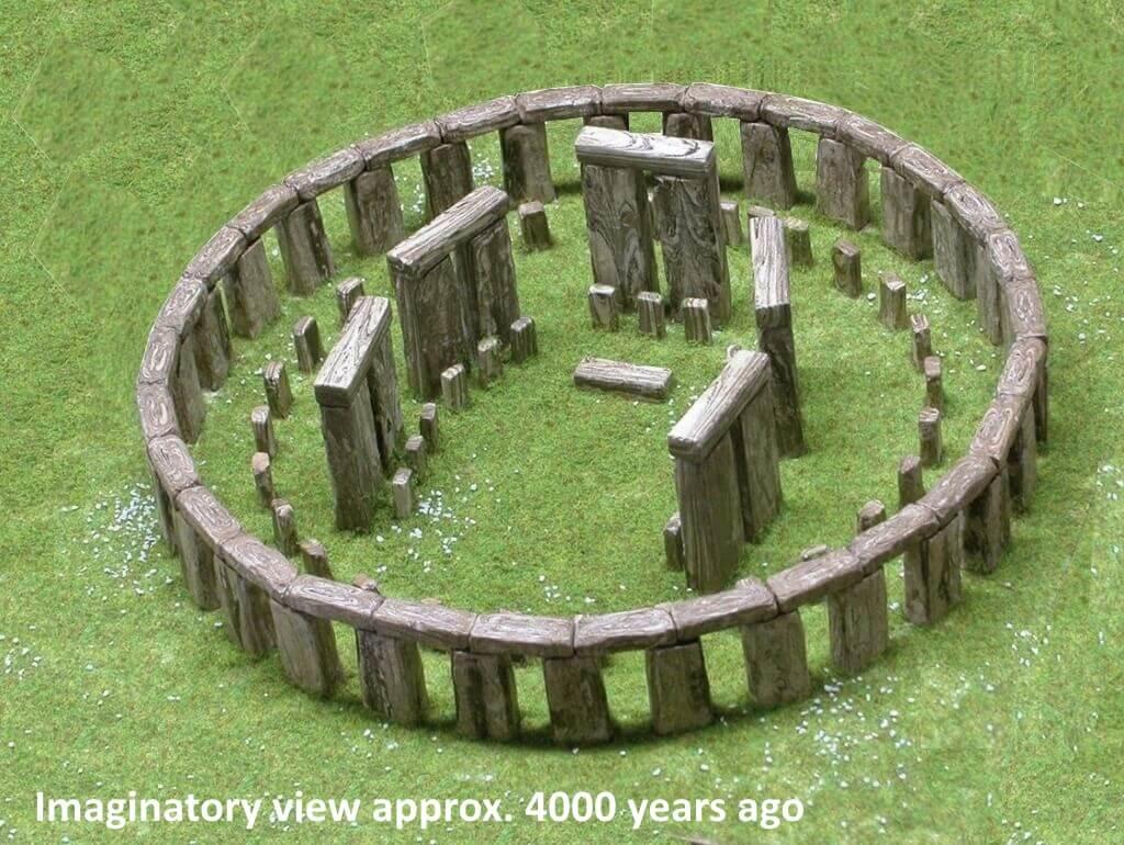Stonehenge - imaginatory view approx 4000 years ago